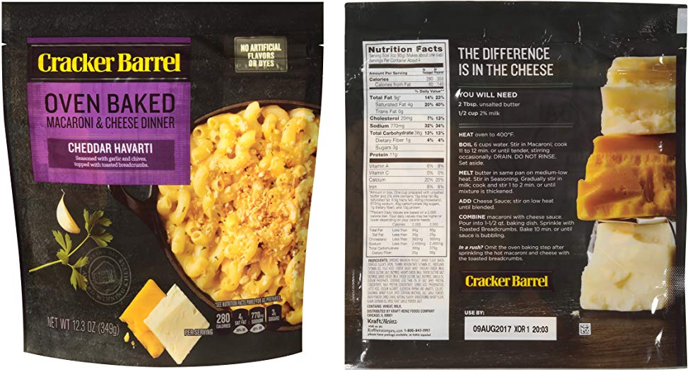 Cracker Barrel Baked Macaroni and Cheese kit