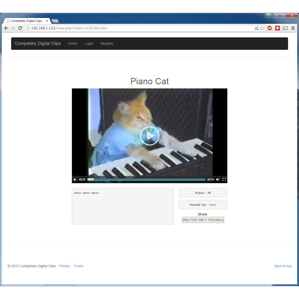 Social Video Service Screenshot