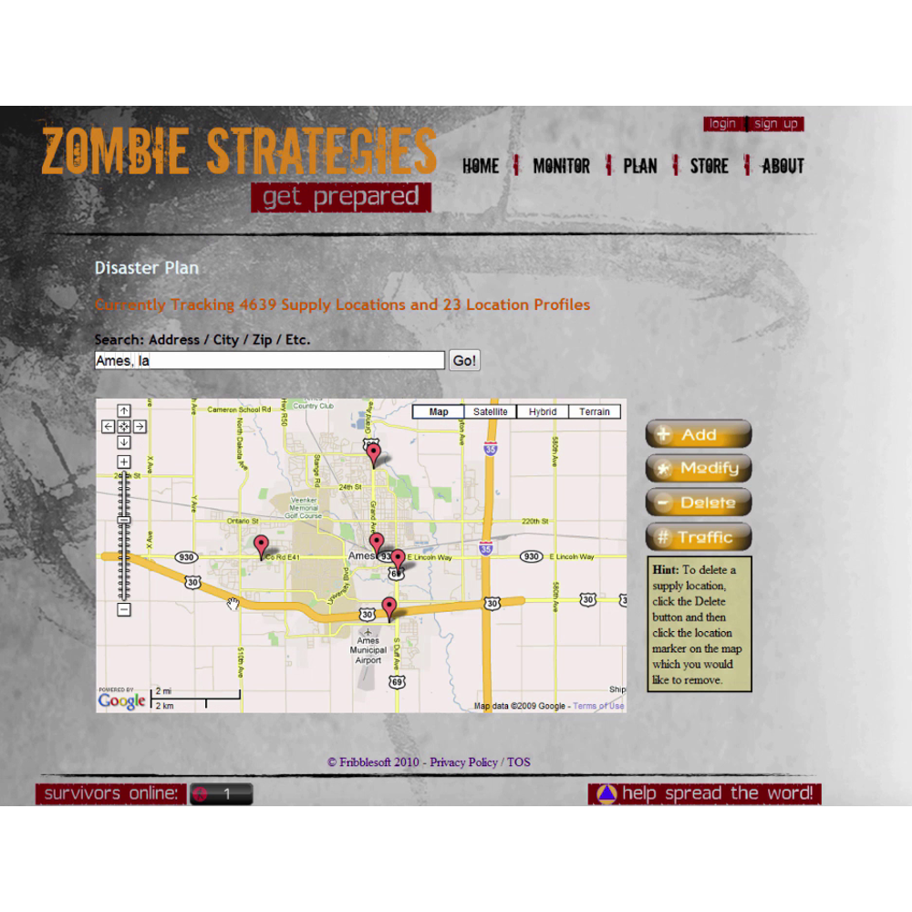 Zombie Strategies Website